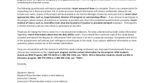 Cover Letter for Research Questionnaire Sample Survey Cover Letter