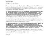 Cover Letter for Resident Advisor Position Cover Letter for Resident assistant Cover Letter
