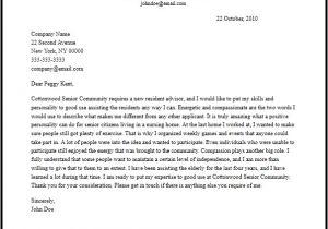 Cover Letter for Resident Advisor Position Professional Resident assistant Cover Letter Sample