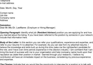 Cover Letter for Resident Advisor Position Resident Advisor Cover Letter 28 Images Sle Cover