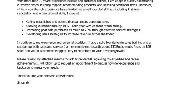 Cover Letter for Sales and Customer Service Best Sales Customer Service Representatives Cover Letter
