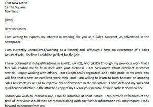 Cover Letter for Sales associate Position with No Experience Example Of Cover Letter for Job Resume Badak