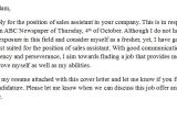Cover Letter for Sales Consultant with No Experience Cover Letter for Sales assistant with No Experience