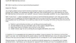 Cover Letter for School Office assistant School Administrative assistant Cover Letter Sample