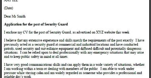 Cover Letter for Security Officer Position Security Officer Cover Letter Free Samples Examples