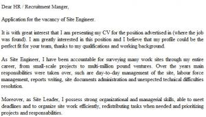 Cover Letter for Site Engineer Site Engineer Cover Letter Example Icover org Uk