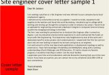 Cover Letter for Site Engineer Site Engineer Cover Letter