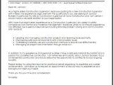 Cover Letter for Site Supervisor Construction Supervisor Cover Letter Sample Cover Letter