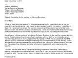 Cover Letter for software Developer Internship Job Application Letter software Engineer