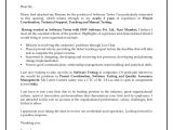Cover Letter for software Test Engineer Cover Letter