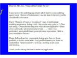 Cover Letter for Talent Agency Sample Cover Letter for Modeling Opportunities Get Your
