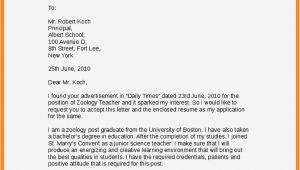 Cover Letter for Teaching Job for Freshers Application Letter for Teaching Job Pdf Resume Template