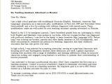 Cover Letter for Teaching Job In School Teaching assistant Cover Letter Sample Monster Com