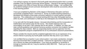 Cover Letter for Teaching Position at University Application Letter Sample Cover Letter Sample for