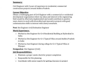 Cover Letter Looking for Work Civil Engineer Looking for Job