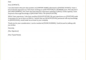 Cover Letter Looking for Work Cover Letter for Student Looking Part Time Work
