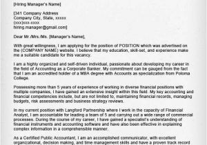 Cover Letter Of An Accountant Accounting Finance Cover Letter Samples Resume Genius