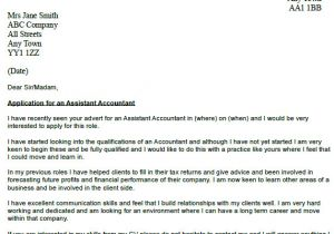 Cover Letter Of An Accountant assistant Accountant Cover Letter Example Icover org Uk