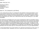 Cover Letter Of An Accountant Sample Cover Letter for Accounting Job