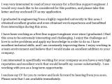 Cover Letter Opening Line Examples First Line Support Engineer Cover Letter Example