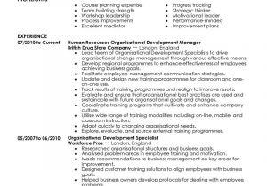 Cover Letter organizational Skills Best organizational Development Resume Example Livecareer