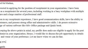 Cover Letter Samples for Receptionist Administrative assistant Cover Letter Examples for Receptionist Administrative