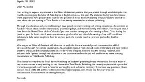 Cover Letter to A Publisher Sample Cover Letter Sample Cover Letter Hr Director
