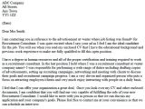 Cover Letter to Recruitment Agency Example Sample Cover Letter Sample Cover Letter to Recruitment Agency