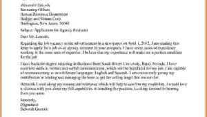 Cover Letter to Send to Recruitment Agency 5 How to Write A Mail to Recruiter Sample Lease Template