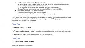 Cover Letter Types and Samples Different Types Of Cover Letters the Letter Sample
