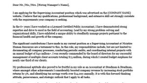 Cover Letters for Accountants Accounting Cover Letter Sample Writing Tips Resume
