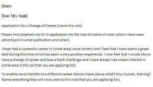 Cover Letters for Career Changers Career Change Cover Letter Example Icover org Uk