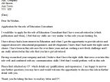 Cover Letters for Educators Education Consultant Cover Letter Example Icover org Uk