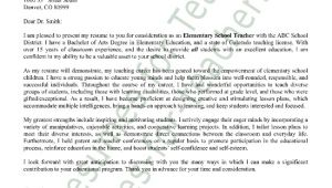 Cover Letters for Educators Elementary Teacher Cover Letter Sample