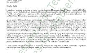 Cover Letters for Educators Elementary Teacher Cover Letter Sample