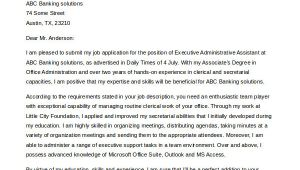 Cover Letters for Executive assistants Administrative assistant Cover Letter 8 Free Word Pdf