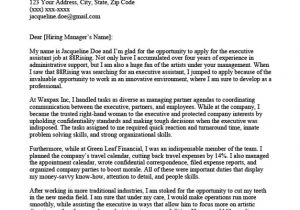 Cover Letters for Executive assistants Executive assistant Cover Letter Sample Tips