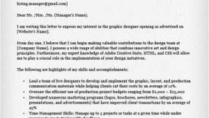 Cover Letters for Graphic Design Jobs Graphic Designer Cover Letter Samples Resume Genius