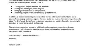 Cover Letters for Managers Best Management Cover Letter Examples Livecareer