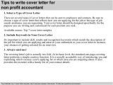Cover Letters for Non Profit Jobs Non Profit Accountant Cover Letter
