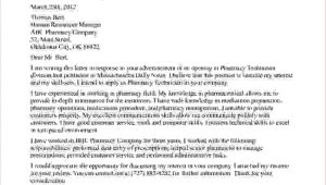 Cover Letters for Pharmacy Technicians 3 Pharmacy Technician Cover Letter No Experiencereport