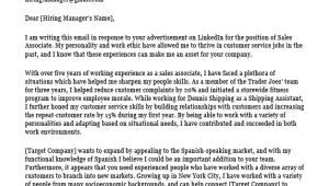 Cover Letters for Sales associates Sales associate Cover Letter Sample Resume Companion