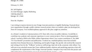Covering Letter Content Cover Letter Content