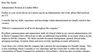 Covering Letter Examples for Administrator Office Administrator Cover Letter Resume Badak