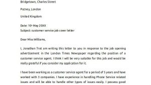 Covering Letter for Customer Service Job 14 Cover Letter Examples for Jobs to Download Sample