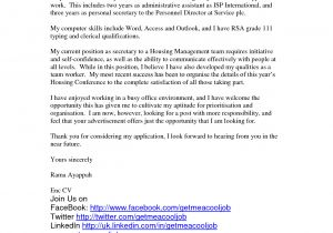 Covering Letter for Personal assistant Leave Letter format Best Template Collection
