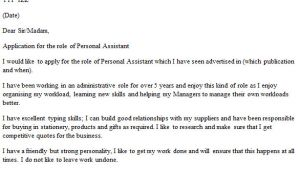 Covering Letter for Personal assistant Personal assistant Cover Letter Example Icover org Uk