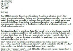Covering Letter for Recruitment Consultant Recruitment Consultant Cover Letter Example Learnist org