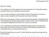 Covering Letter for Recruitment Consultant Trainee Recruitment Consultant Cover Letter Icover org Uk