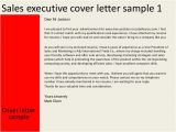 Covering Letter for Sales Executive Sales Executive Cover Letter